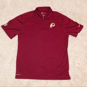 Washington redskin Nike drifit polo size Medium